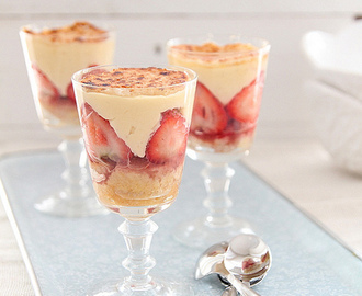 Fraisier trifle and a master class with Eric Lanlard
