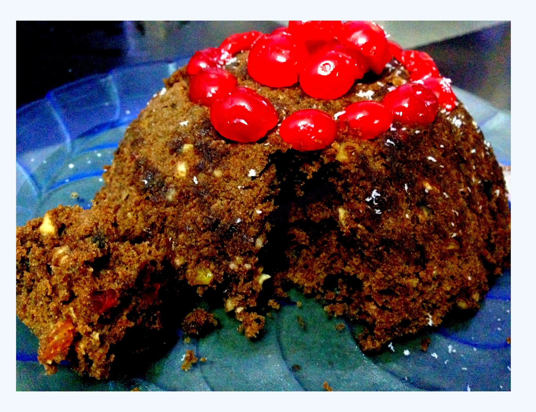 Eggless Chocolate and Dry fruits Cake  in Microwave Oven