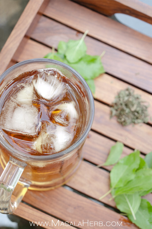 Refreshing Tulsi Ice Tea – Indian Holy Basil Iced Tea to beat the #Indiansummer heat