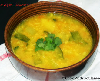 Mixed Veg Dal in Pressure Cooker specially for Kids