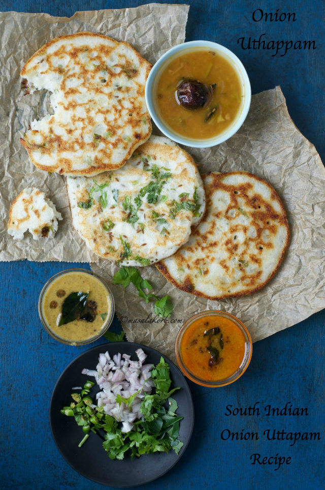 South Indian Onion Uttapam Recipe | How to make Onion Uthappam | Quick Uttapam Recipe | How to make Uttappa | Preparation of Uttapam