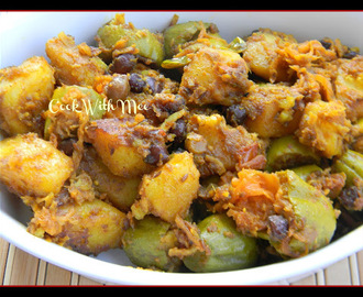 Aloo Kumro patol er Chokka or Potato Pumpkin Curry with Parwal