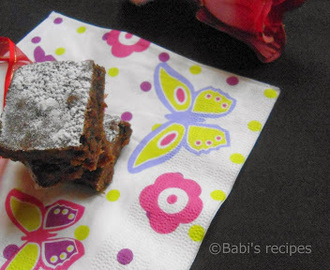 Eggless Chocolate Banana Brownie  & Easy Homemade Chocolate | Valentine's Day Special