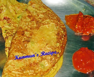 MIX VEG CHILLA WITH PANEER TOPPINGS