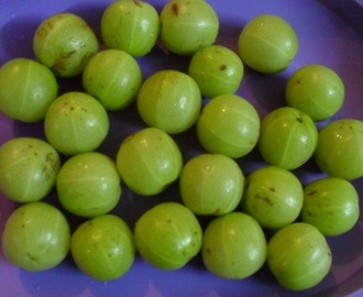 Mor Nellikkai  - Gooseberries Pickled In Curd