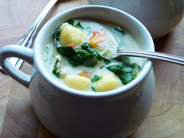 * Creamy Chicken Gnocchi Soup