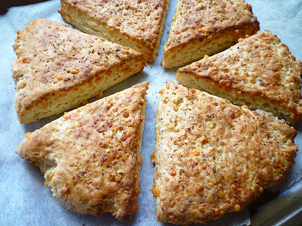 * Cheese and Mustard Scones