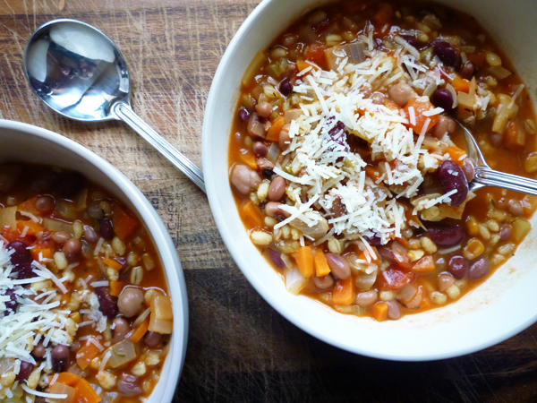 * Mixed Bean and Barley Soup