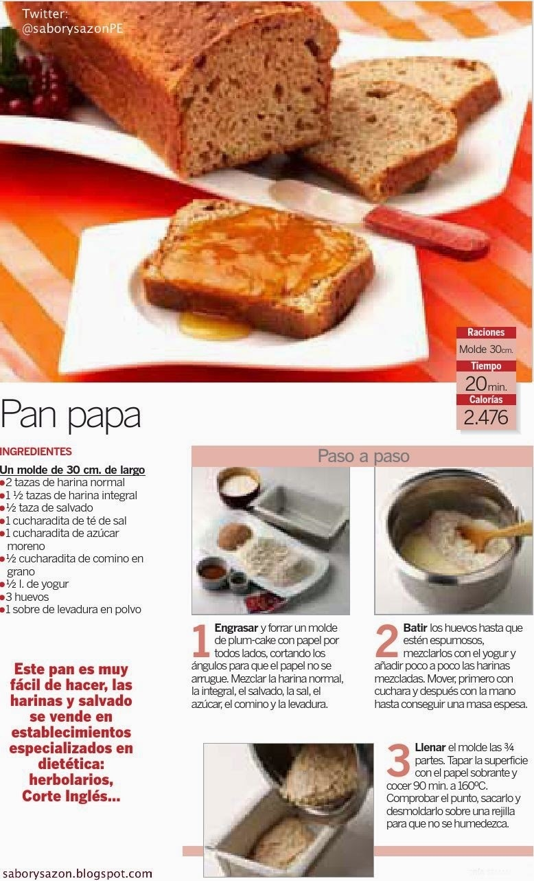 RECETA SENCILLA - PAN PAPA - POSTRES FACILES - Recipes