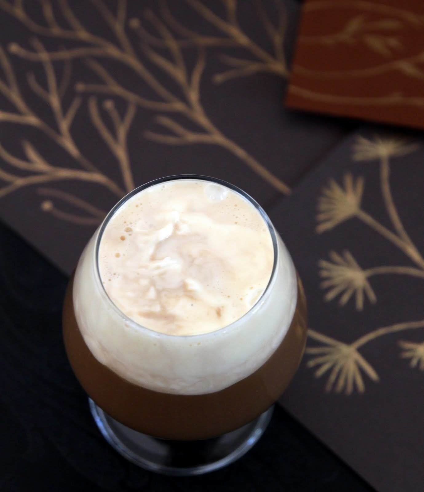 Irish Coffee with Baileys and vanilla cream