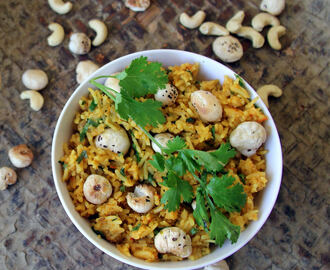 Makhana rice - Lotus seeds Rice - Pool makhana rice - Simple lunch recipes - Healthy rice recipes