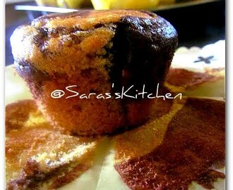 Eggless whole wheat chocolate marble cupcake