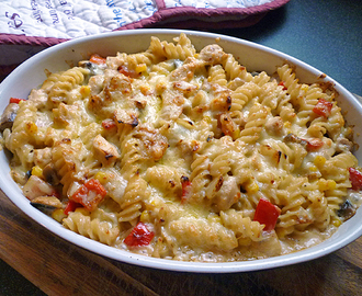* Creamy Chicken Pasta Bake