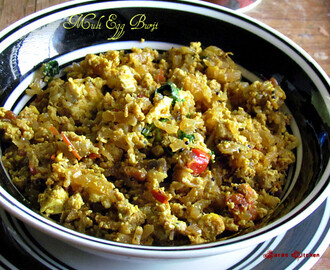 Muli Egg Burji / Mulangi Muttai poriyal / Radish Egg curry