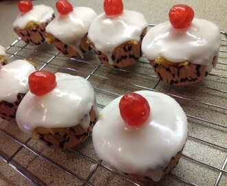 Cherry Bakewell Cupcakes