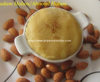 Badam Halwa/Almond Halwa [600th Post]