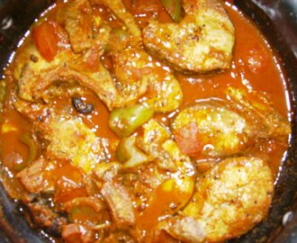 Fish curry with Capsicum (Green Bell peppers)
