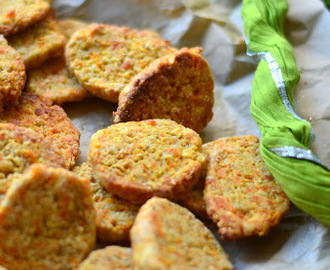 Carrot Cheddar Cheese Cookies