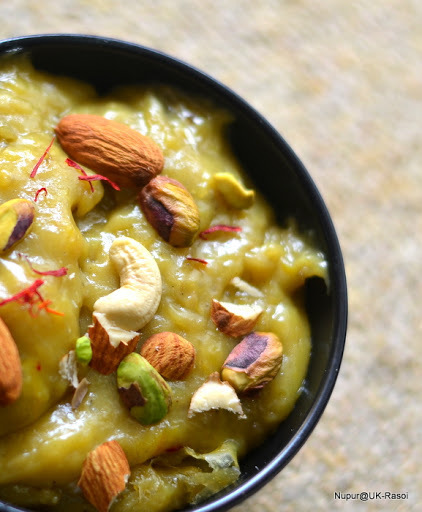 Banana Halwa / Fudge ~~ Blog Hop from Seduce your Taste Buds
