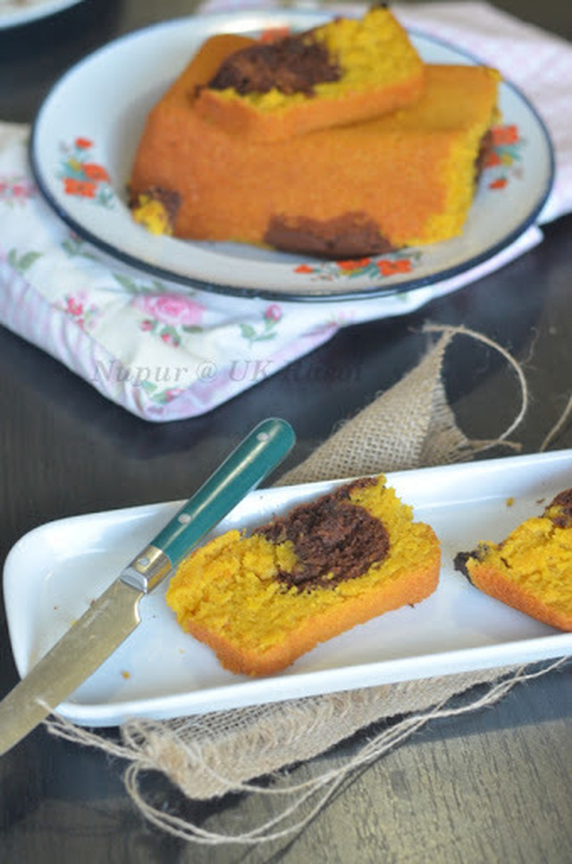 Mango Choco Cake : Eggless and Butterless