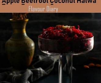 Quick Easy Apple Beetroot Coconut (ABC) Halwa recipe | Flavour Diary | Indian dessert recipe
