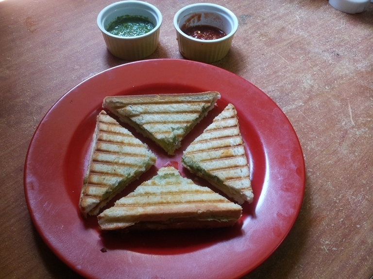 Cooking Video Episode 8 - Tri Colour Griled Sandwich / Chilli & Coriander Chutney Panini Recipe