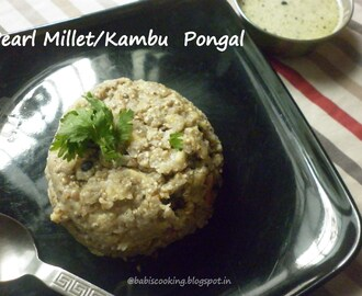 Pearl Millet/Kambu/Bajra  Pongal- Recipe with Pearl millet  |  Healthy breakfast