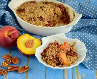 Peach Pecan Crumble