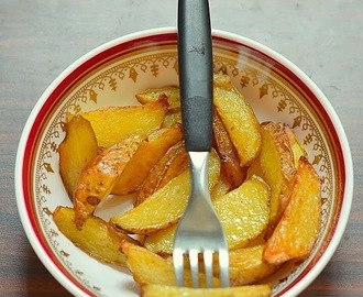 How to make potato wedges- Easy baked potato wedges recipe