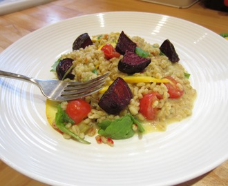 Easy Vegetable Pearl Barley Risotto