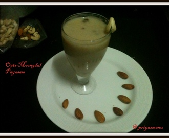 Oats Moong dal Payasam / Oats Pasiparupu Payasam