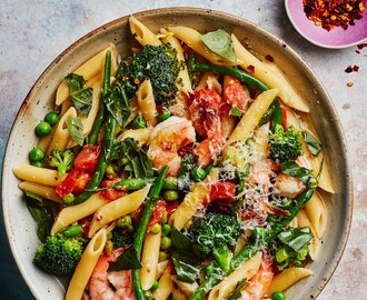 One-Pot Pasta Primavera with Shrimp
