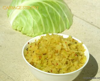 Cabbage Stir fry | Cabbage Palya Recipe
