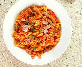 PRESSURE COOKER pasta with tuna and caper sauce!