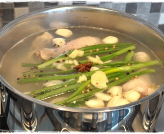 Asian Chicken Stock (or Asian Poached Chicken) …