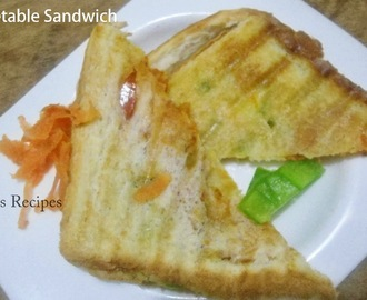 Grilled Vegetable Sandwich | Easy Sandwich Recipe | Easy Lunch Box Idea