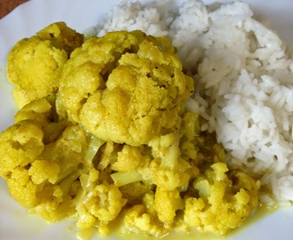 Goby curry (curry de coliflor)
