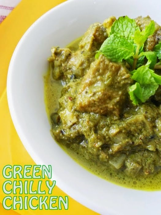 Green Chilli Chicken Curry....step by step.