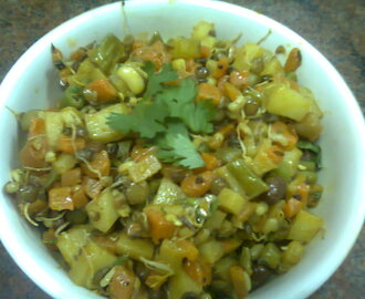 Mixed Veg with Sprouts Sabzi