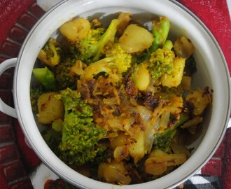 BROCCOLI ALU SABJI