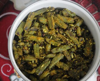 BEANS FRY WITH ROASTED CHANADAL POWDER