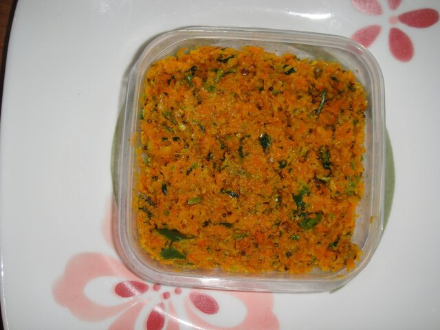 SWEET AND SOUR CARROT PACHADI( CHUTNEY)