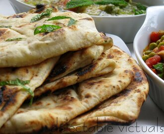 Simple Mint, Fennel and Garlic Naan
