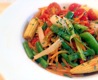 Stir Fry Garlic Rainbow Vegetables Recipe