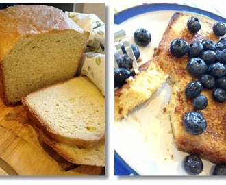 Brioche French Toast with Blueberries and Maple Syrup – Breadmaker Recipe