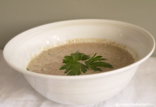 Cream on a 5:2 Diet Fast Day? Low Calorie 'Cream of Mushroom' Soup