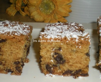 Barras con chips de chocolate (chocolate chips bars)