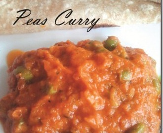 Green Peas Curry!