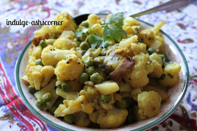 Peas Flower Potato Stir Fry/Bhaji- Straight from Moms kitchen.