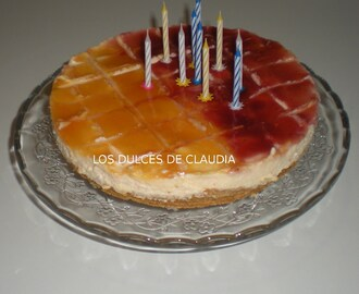 Cheesecake de macedonia de frutas
